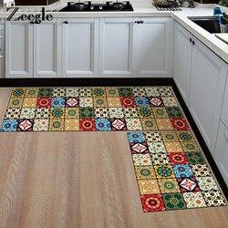 Zeegle estilo nórdico tapete de cozinha antiderrapante tapetes do banheiro flanela macio quarto cabeceira