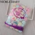 100pcs/Bag Colorful Cotton Wool Balls UV Gel Nail Polish Remover Nail Art Manicure Tool 8317469