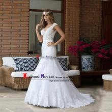 vestido de noiva sereia Cheap Wedding Gown Fashion White Lace Mermaid Wedding  Dress 2019 Cap Sleeves Bridal Dresses Casamento 13b48a33f0e9