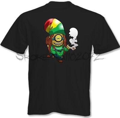 ad85b4f0c8d Rasta Minion Mens Funny T-Shirt Bob Marley Reggae Weed Minions 3XL 4XL 5XL
