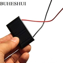 BUHUSHUI Mini Solar Panel 5V 30mA Solar Cells Photovoltaic Panels Module Sun Power Battery Charger For