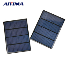 AIYIMA Polycrystalline Solar Panels 18V 1.5W Solar Battery SunPower Charging Solars DIY Electric Toy Photovolta DIY Charger
