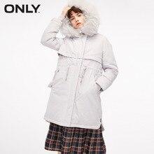 女性だけのビッグ毛皮の襟ストレートフィットロングホワイトダックダウンジャケット 118412509 |