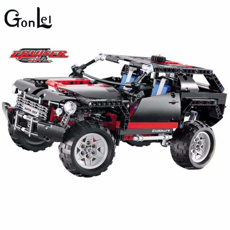 (GonLeI)3341 super jeep building bricks blocks New year Gift Toys for children Car Off Roader compatible technic Bela