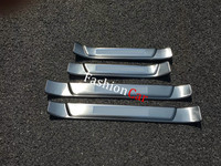 For Toyota Fortuner AN160 2016 2017 4pcs Set Stainless Steel Car Accessories Outer Door Sill Scuff