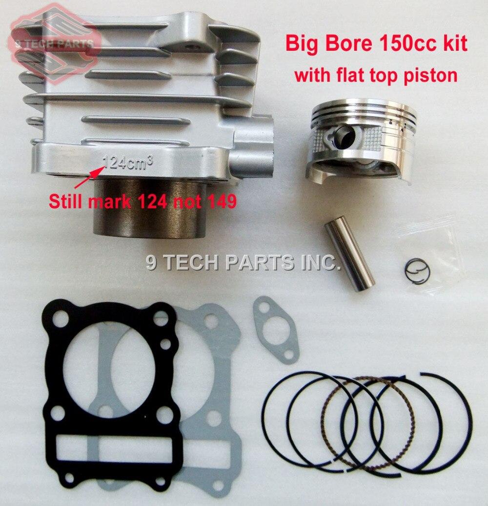 GROS CALIBRE Baril Cylindre Piston Kit 150cc 62mm pour GS125 GN125 EN125 GZ125 DR125 TU125 157FMI K157FMI moteurs