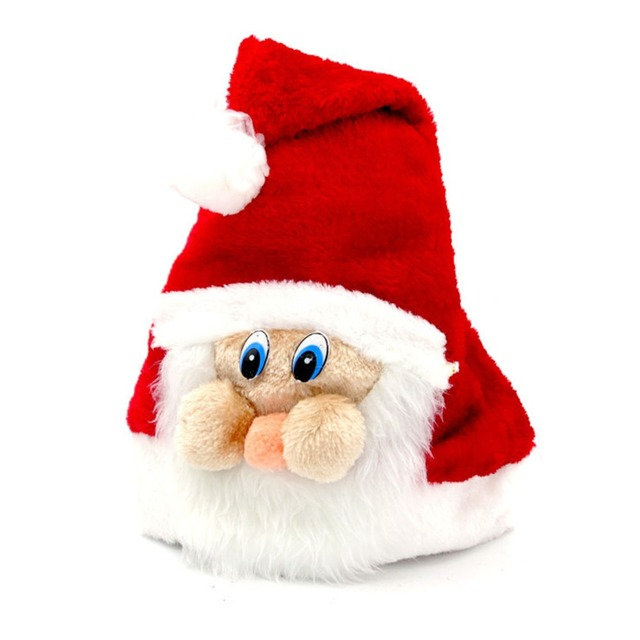 c3d76d51c7bc1 Christmas Hat For Kids Adult Cute Cartoon Children Santa Claus Hats  Christmas Father Caps Adult Plush Cap Christmas Decorations