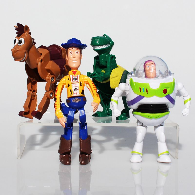 Toy Story Figure Dolls Buzz Lightyear Woody Rex Dinosaur PVC Action Figures Toys 4~12cm Great Gift 4Pcs/Set hot new 1pcs 18cm toy story 3 woody action figures pvc action figure model toys christmas gift toy