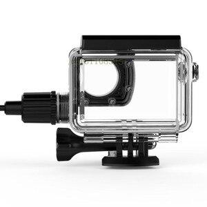 Image 5 - חדש מקורי SJCAM אופנוע עמיד למים מקרה עבור SJCAM SJ8 פרו/בתוספת/אוויר טעינה דיור פעולה מצלמה עבור SJ8 מטען מקרה