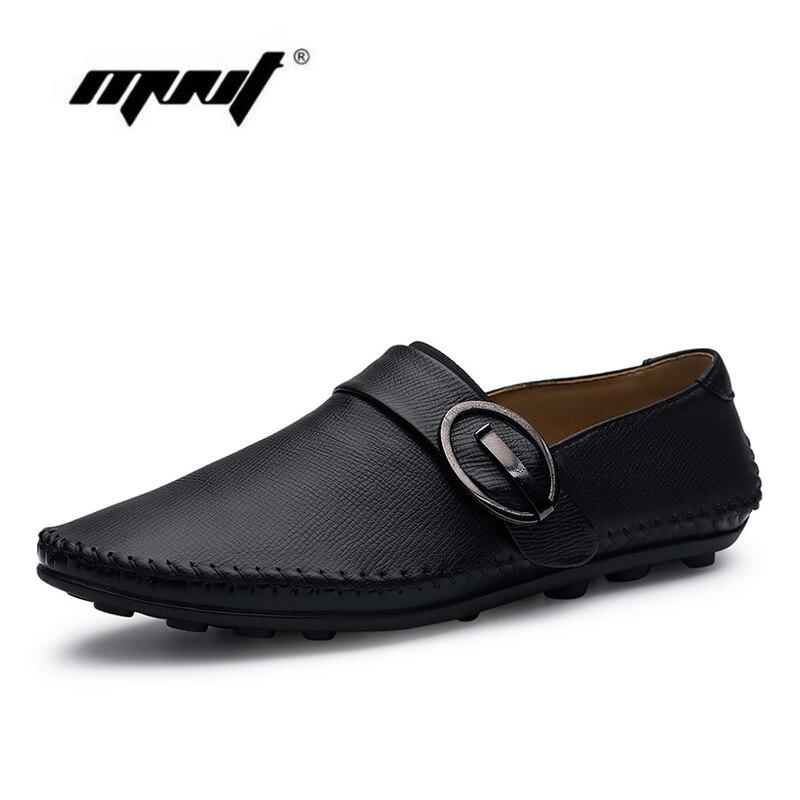 جديد وصول الرجال السببية الأحذية جلد طبيعي أحذية الرجال أحذية الانزلاق على الشقق أحذية عالية الجودة في الهواء zapatos hombre دروبشيبينغ