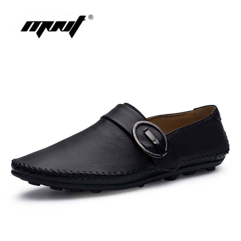 New Arrive Men Causal Shoes Genuine Leather Shoes Men Slip On Flats Shoes High Quality Outdoor Shoes Zapatos Hombre