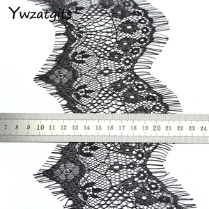 Image 2 - ywzatgits 14 colors  Flower Embroidered Garment lace  Trim Lace  DIY Sewing Dress  3Yards /Lot  YR0503