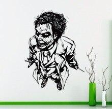Superhero Wall Sticker Joker Vinyl Decal Home Interior Room Decoration Face Art Mural Removable Wallpaper AY1745