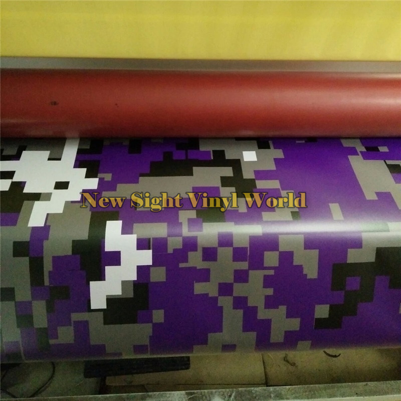 Фиолетовый цифровой камуфляж винил автомобиль обернуть воздушный пузырь бесплатно для укладки Пиксельный камуфляж пленку графика Размер 1.52*30m/рулон