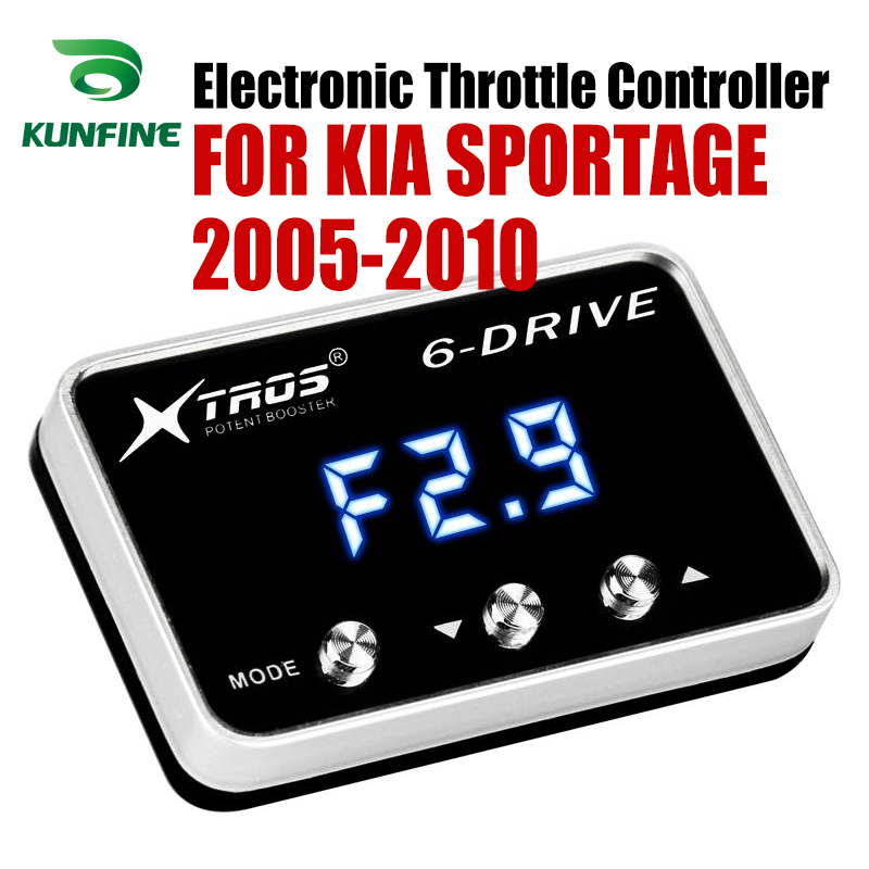 Samochód elektroniczny regulator przepustnicy wyścigi akcelerator wspomagacz dla KIA SPORTAGE 2005-2010 części do tuningu akcesoria