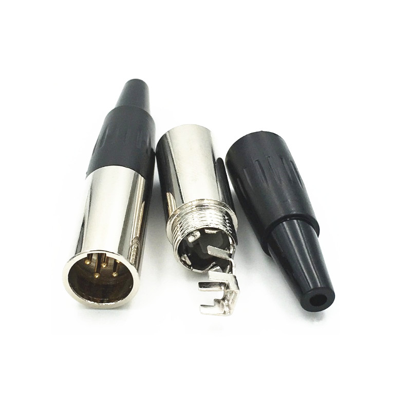 10 штук упак мини xlr 3pin штекер и гнездо маленькие аудио разъемы