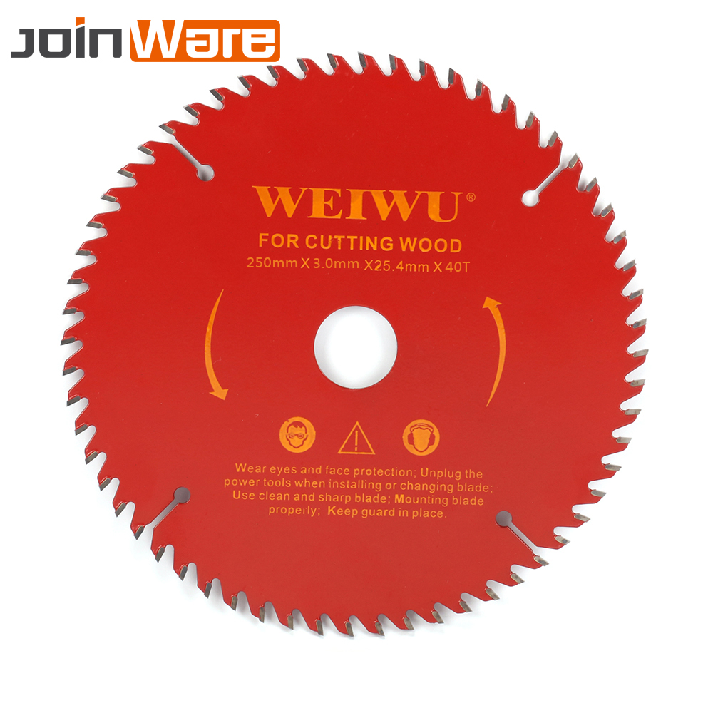 цена на 250mm 10 Carbide Circular Saw Blade For Wood Cutting 40T 60T 80T 100T 120T Woodworking Cutter Tool Aperture 25MM Free Shipping