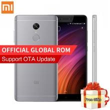 Оригинал Xiaomi Редми Примечание Мобильного Телефона 4X 3 ГБ RAM 32 ГБ ROM Snapdragon 625 Octa Ядро 5.5 «FHD 13MP Камера Отпечатков Пальцев ID MIUI8.1