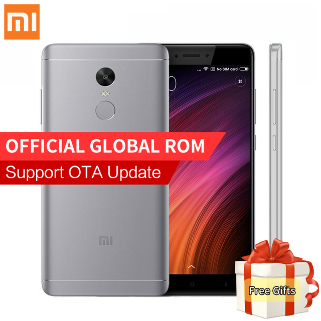 "Original Xiaomi Redmi Note 4X Mobile Phone 3GB RAM 32GB ROM Snapdragon 625 Octa Core 5.5"" FHD 13MP Camera Fingerprint ID MIUI8.1"