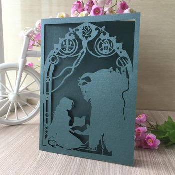 100pcs/lot Delicate Carved Pattern Invitations Card Event Party Supplies Wedding Invitations Thank You Rewards Gift