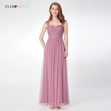 Brudepike kjoler Ever Pretty EP07304 A-line Ermeløs Tulle Lang Sweetheart Ny Ankomst Plus Size Sommerkjole Kvinner Vestidos