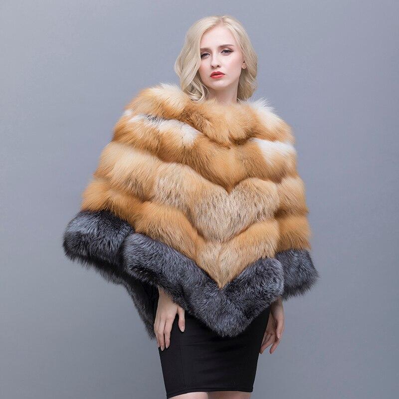 Qiusidun el verdadero zorro Pieles de animales invierno chal collar Trajes para las mujeres en moda ocio puro color primavera y otoño chales ruso