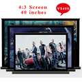 Telas Vs40s 2017 New Everyone Gain Best Quality 40 Inch 4:3 Pull Up Standing Projector Screen Portable Floor Screen/floor Stand