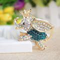 Amazing Elephant Crystal Bag Pendant Purse Bag Buckle Trendy Key chains Holder Keyrings Keychains For Car