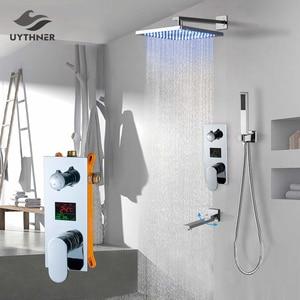 Image 1 - Uythner ensemble de robinets mitigeurs de douche à montage mural, système encastré effet cascade, pour salle de bains, baignoire chromé