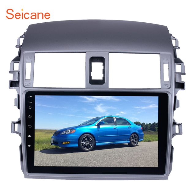 "Seicane 2 DIN 9"" Android 7.1/8.1  Car Radio Bluetooth GPS Navigation for 2007 2008 2009 2010 Toyota OLD Corolla Support WIFI DAB"