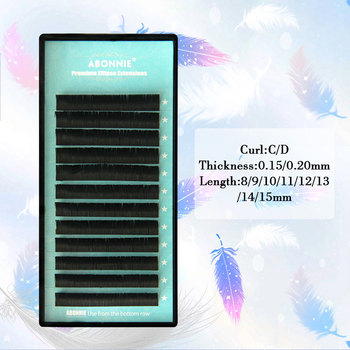 e0e770d46cf Ellipse eyelashes, flat mink eyelashes, 1case/set, Flat Lashes,  high-quality Ellipse False Eyelash Extension,