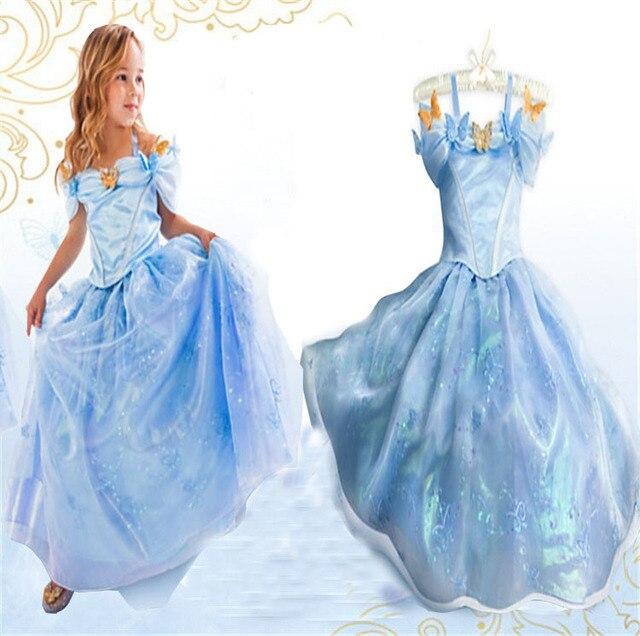 b0f07214e93 Розничная продажа коллекция 2015 года платье Золушки летние праздничные  маскарадные костюмы для маленьких девочек платья принцессы