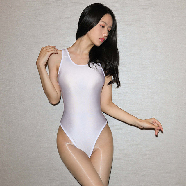 2019 sommer Sexy Shiny Body Backless Sexy Body Badeanzug oder Frauen Clubwear Hohe Elastische Sex Dessous Cosplay Kostüm