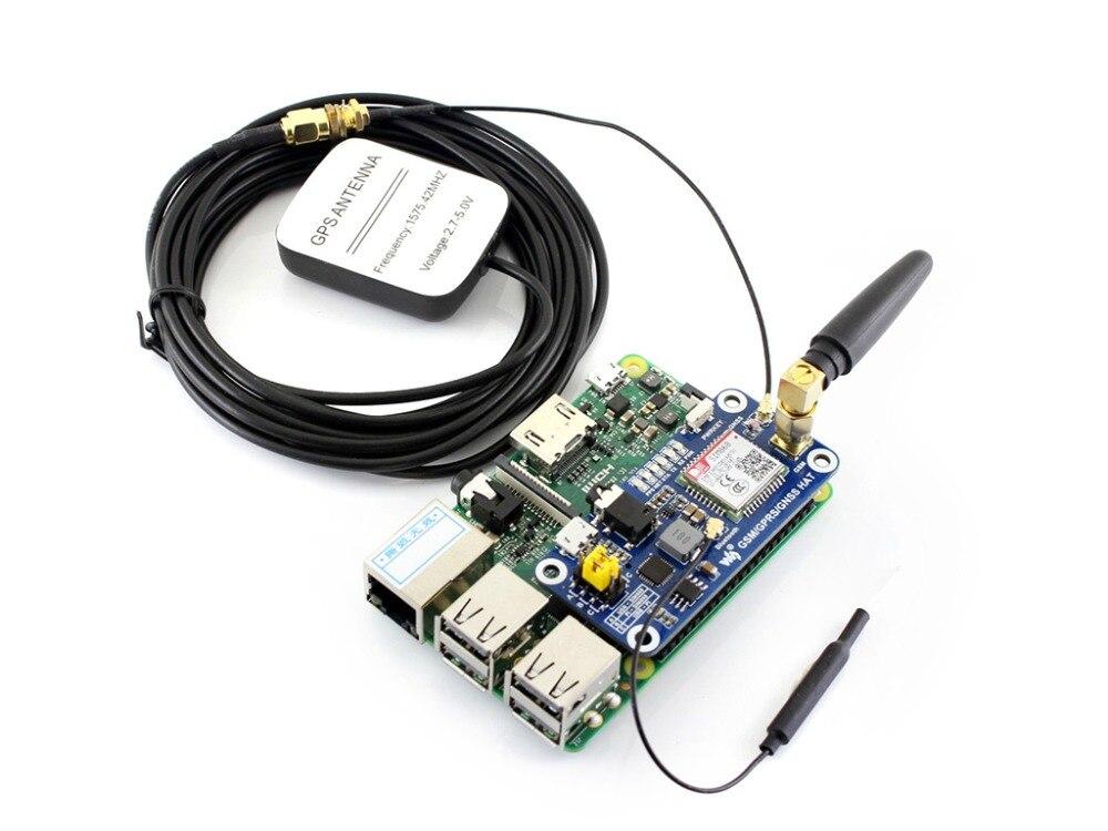Faible puissance SIM868 GSM GPRS GNSS Bluetooth 3.0 chapeau pour framboise Pi 2B/3B/zéro/zéro W soutien SMS appel téléphonique CP2102 UART débogage - 2