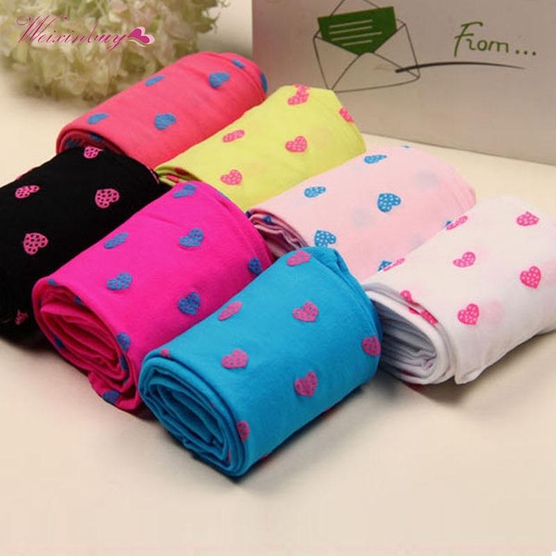 WEIXINBUY New Design Girls Tights Lovely Opaque Velvet Stockings for Kids Girl Print Tight 1 Pcs