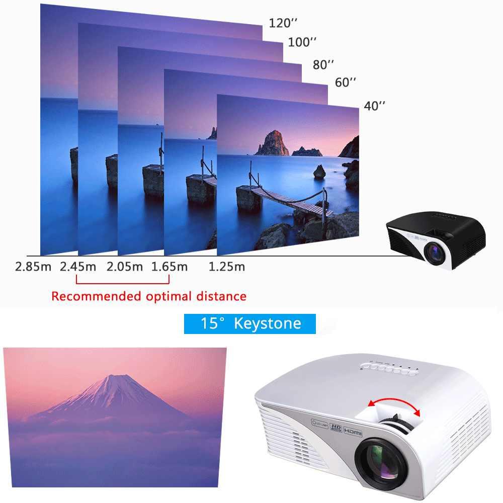 Rigal Projektor RD805B 1200 Lumen LED Mini WiFi Projektor 1080P 3D Beamer Video Home Cinema HDMI USB VGA AV android Projektor