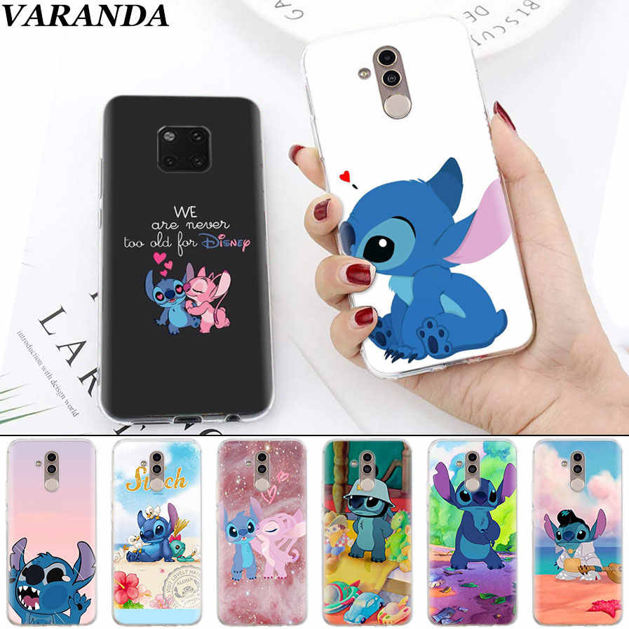 Cute Lilo Stitch Soft Cases for Huawei Mate 10 20 Pro Mate 20 Lite P20 P30 Lite P Smart Plus Case Coque