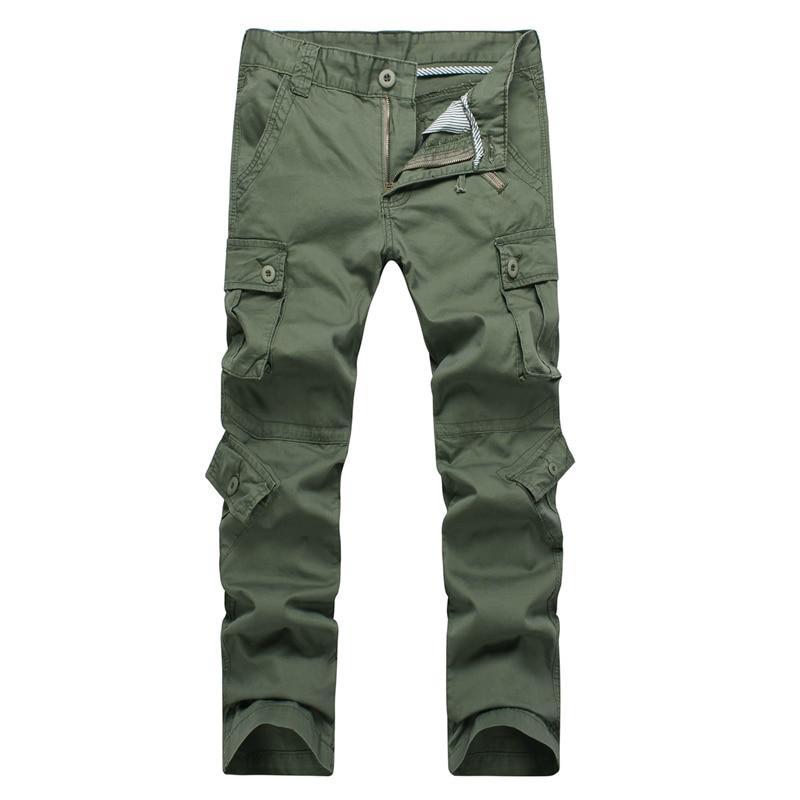 Новый армия армия камуфляж брюки-карго нескольких карман комбинезоны брюки мужчины хаки army green плюс размер 38 36 бесплатно доставка