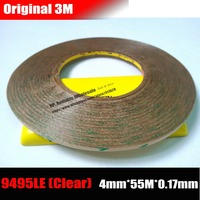 1x 4mm 55M 0 17mm 6 7 Mil Thickness 3M 300LSE Clear PET Double Sided Adhesive