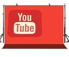 150x220cm YouTube Logo Backdrop Orange Shades Photography Background for Camera Photo Props