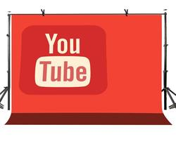 150x220cm YouTube Logo tło pomarańczowe odcienie YouTube Logo fotografia tło na zdjęcie z kamery rekwizyty