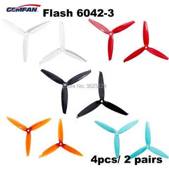 4 шт/2 пары Gemfan Flash 6042 6 дюймов 3 лезвия PC CW CCW Пропеллер для RC моделей Мультикоптер рамка ESC запасные части Аксессуары