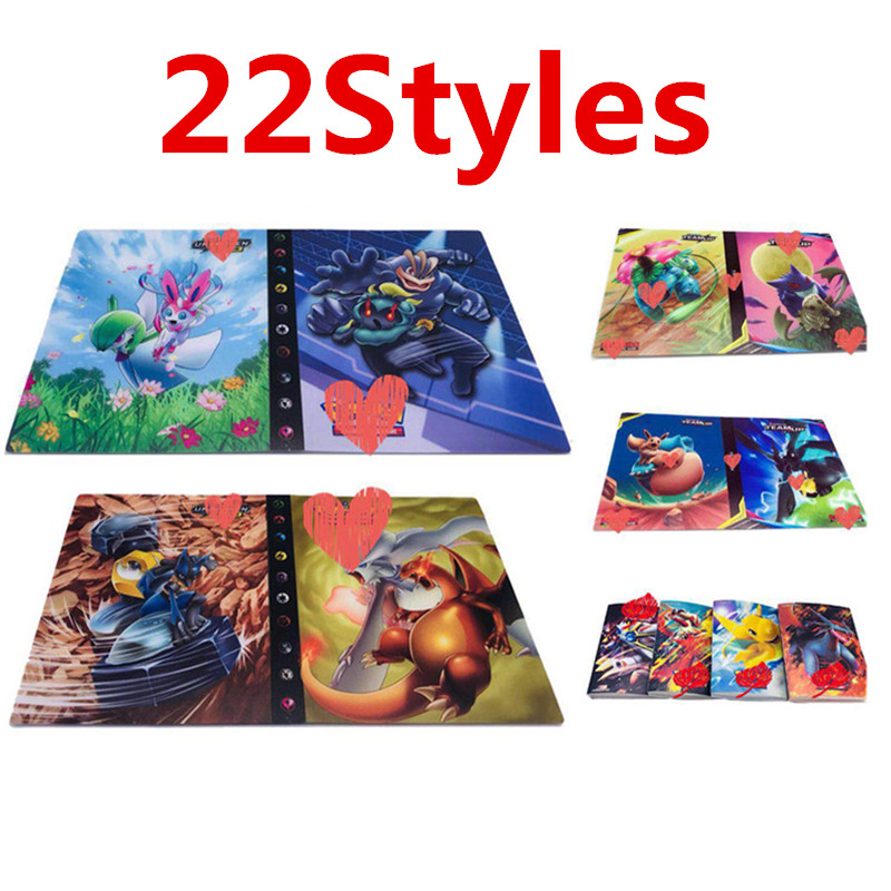 High Quality 240pcs Holder Album Pokemones  Toys For Novelty Gift  Cards Book Album Book Top Loaded List Book(China)