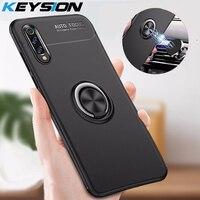 KEYSION-funda para Xiaomi Mi 9 SE Mi 8 Pro Lite, funda magnética suave de TPU, soporte para anillo de dedo para coche, funda trasera para Mi9 Mi A2