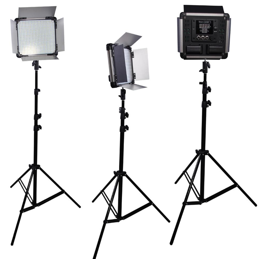DHL Free 3 pcs Dison Remote Control LED Lamp camera continue lighting D-528 40W 1500 Lumen Studio Photography led video light