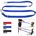 6 Manera de múltiples funciones de Nylon Correa Del Perro de Plomo Ajustable Manos Libres Pet Leash Training Negro Rojo Azul