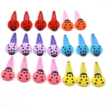 50PCS/set New Arrival Animal Hair Clips Ladybug Hello Kitty Flower Hairgrips Hairpins For Girls KIDS