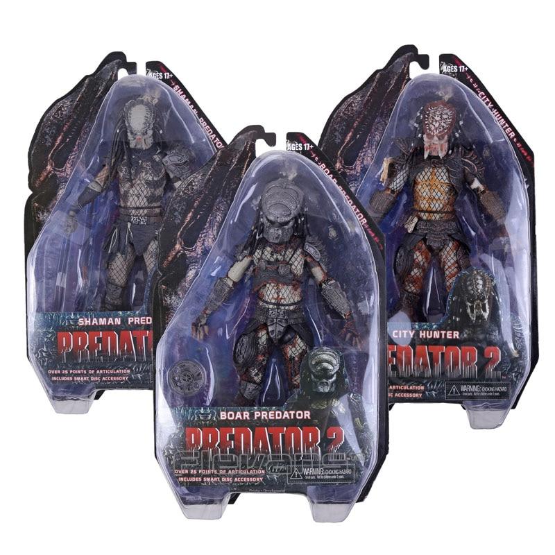 "Lost Predator Action Figure Predator 2 Doll Alien Hunter PVC Toy 8/"""