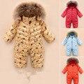 2017 el más nuevo bebé traje para la nieve recién nacido mono pato blanco infant clothing outwear y capa de los cabritos ropa de muchachas de los bebés de los mamelucos