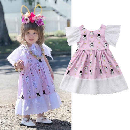 1420f4e6fd Detail Feedback Questions about 2018 New Kid Girl Rabbit Dress Cute ...